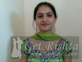 Girl Rishta proposal for marriage in Lahore aarahian